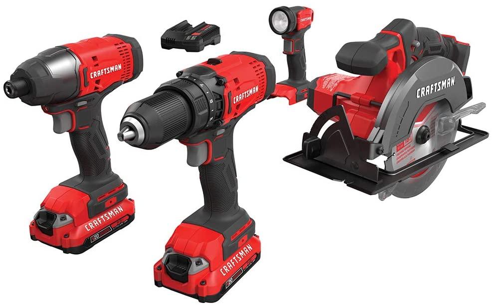 best power tool kits, craftsman drill combo set
