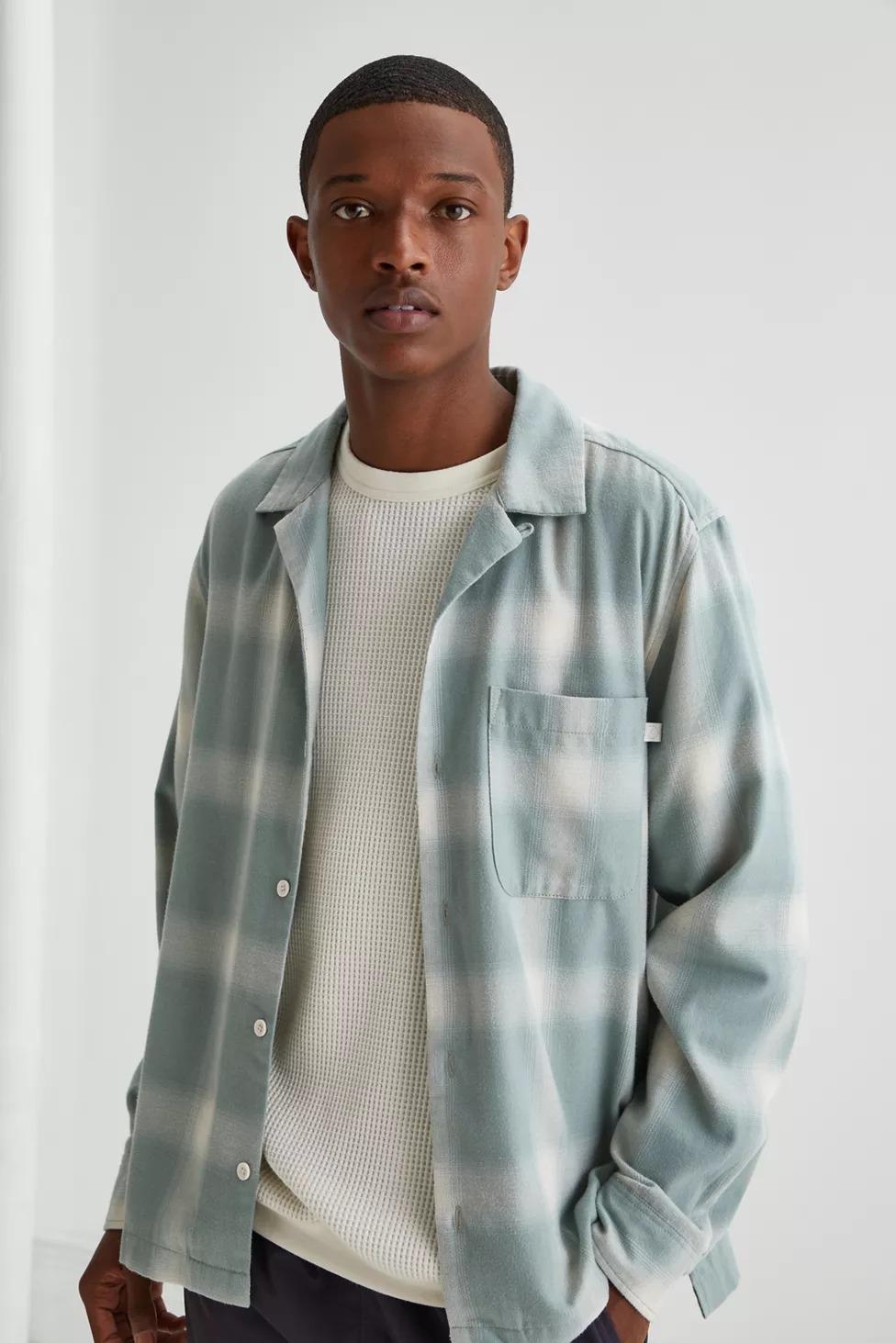 Standard Cloth Flannel Camp Collar Shirt