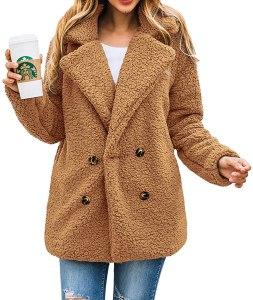 shaggy camel coat, best camel coats for women