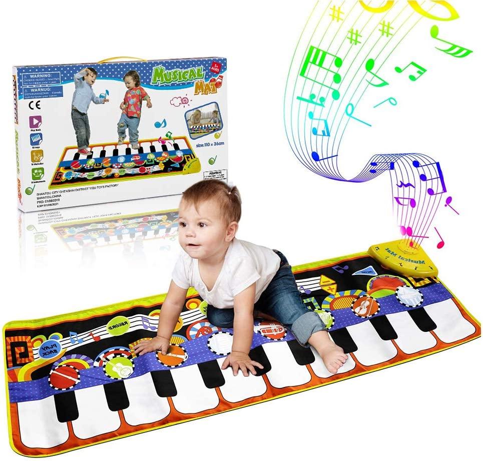 RenFox Kids Musical Mats, Music Piano Keyboard Dance Floor Mat