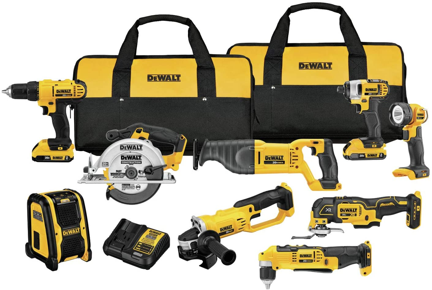 dewalt 9-piece power tool set