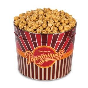 Popcornopolis Gourmet Popcorn 1.26 Gallon Tin with Caramel