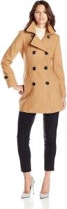 Anne Klein women's double-breasted coat, camel coats for women