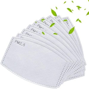 face mask filters - Gecter 50PCS Adult PM2.5 Activated Carbon Filters