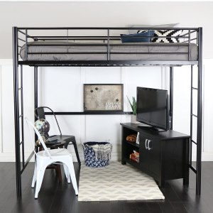 Walker Edison Furniture Modern Loft Bed
