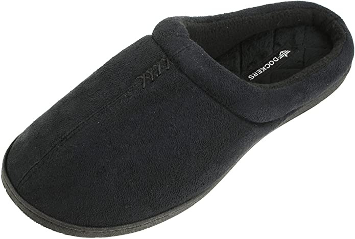 house slippers for men: dockers house slipper in color black