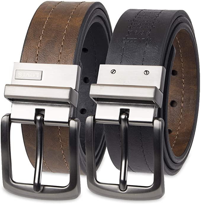 levi reversibile leather belt for men