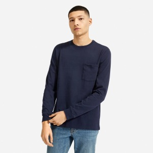 Everlane Organic Cotton Long-Sleeve Pocket Tee