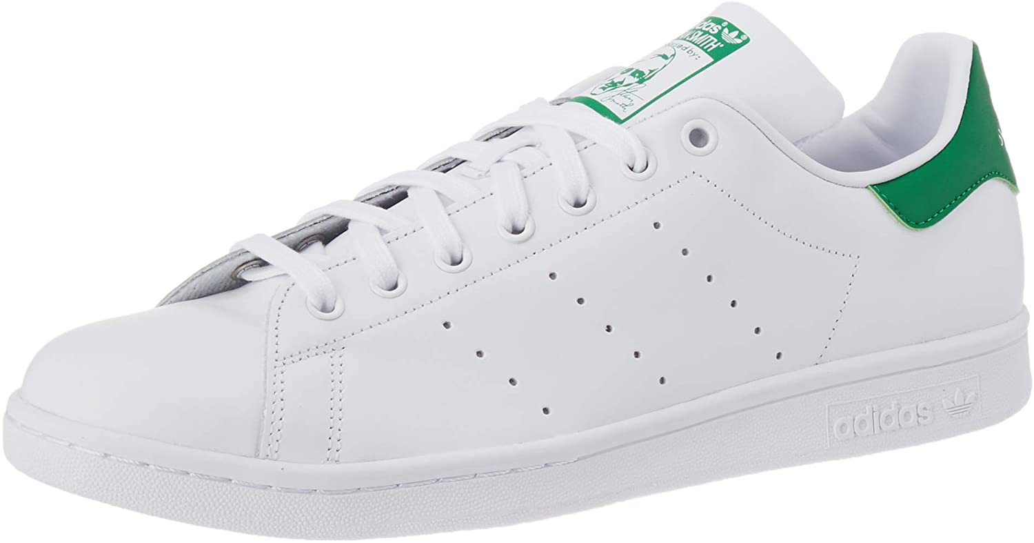 Adidas Originals Men's Stan Smith sneaker in white with green accent