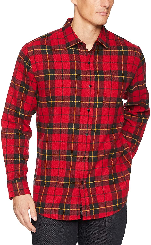 Amazon-Essentials-mens-plaid-flannel-shirt