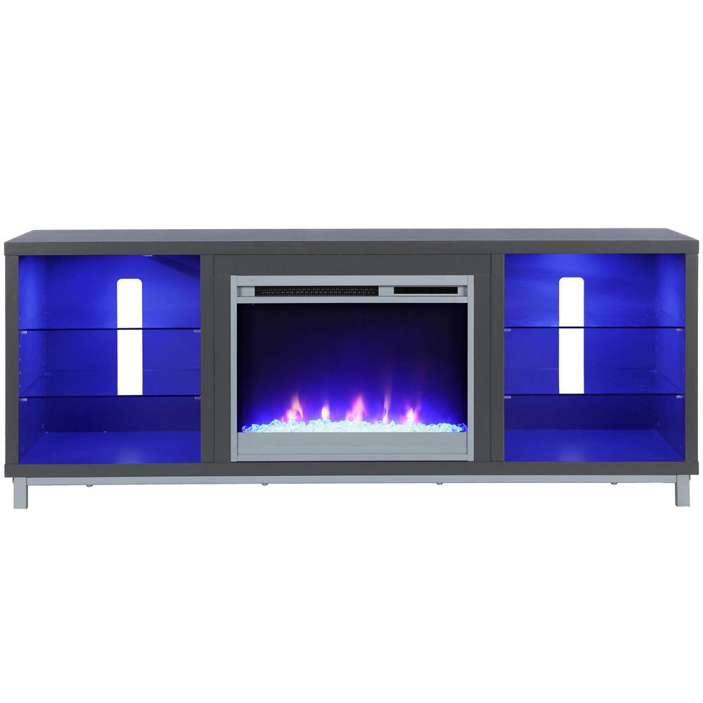 Ameriwood Cleavland electric fireplace TV stand