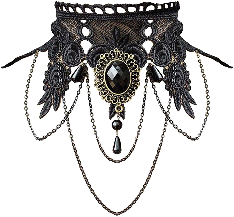 Aniwon-Vintage-Black-Lace-Necklace