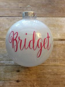 personalized christmas ornaments backseatboutique