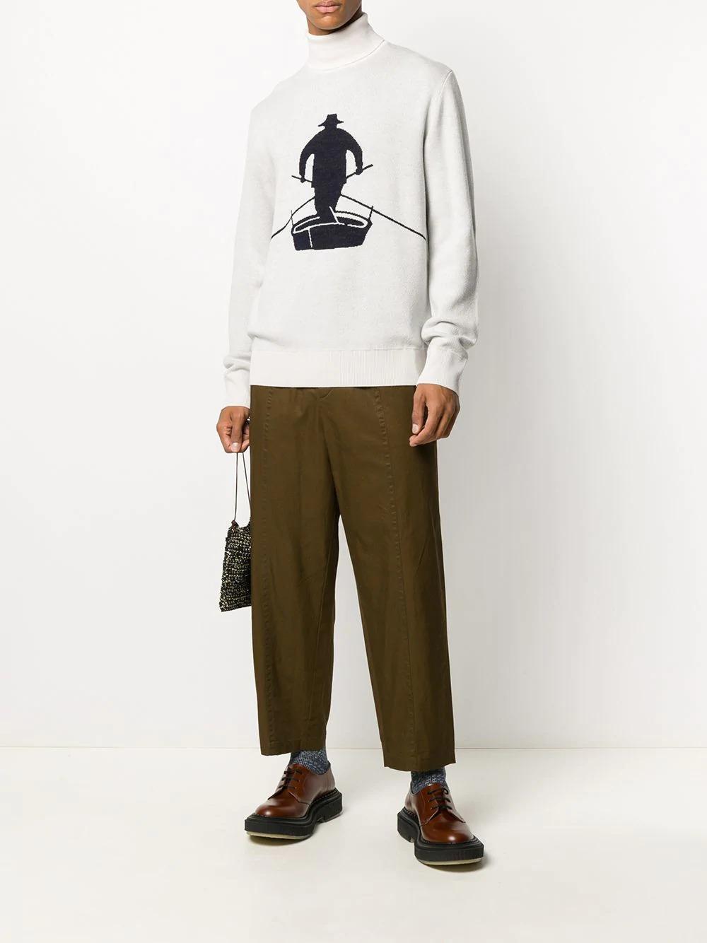 barena navy and white fisherman sweater
