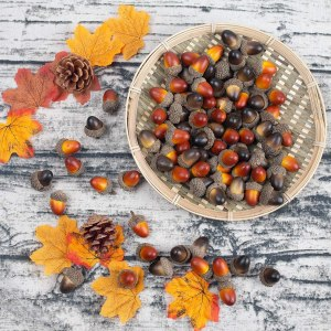 thanksgiving decor dining table holiday centerpieces bigotters acorns