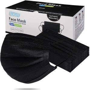 biwisy black disposable face masks
