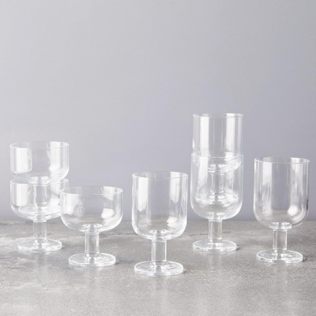 Bormioli Rocco Stackable Wine Glasses