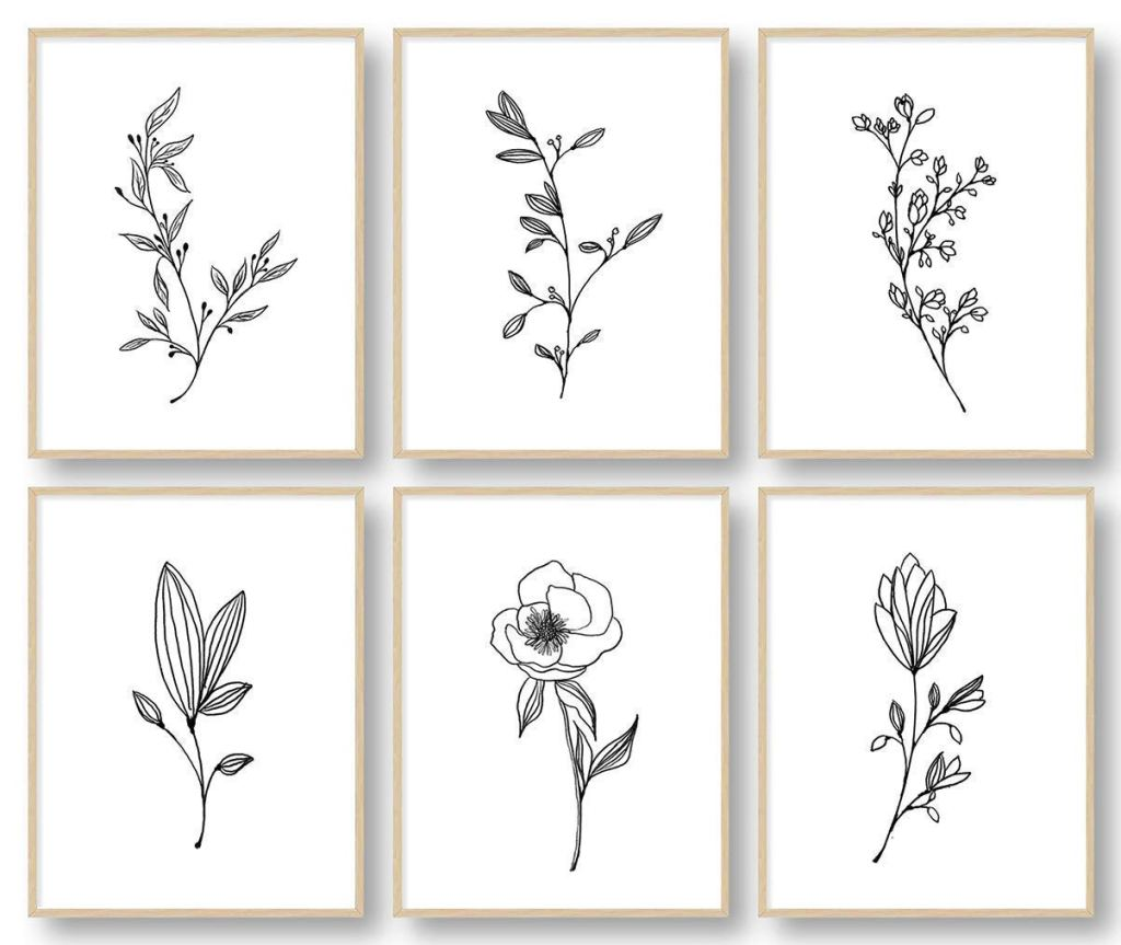 Botanical Plant Wall Art Prints, best gifts for mom