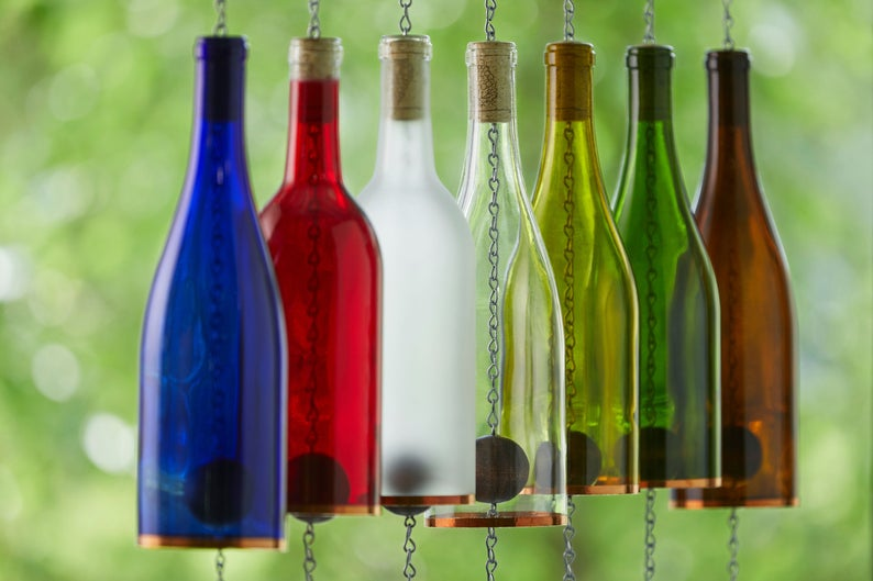 wind chimes bottlesuncorked