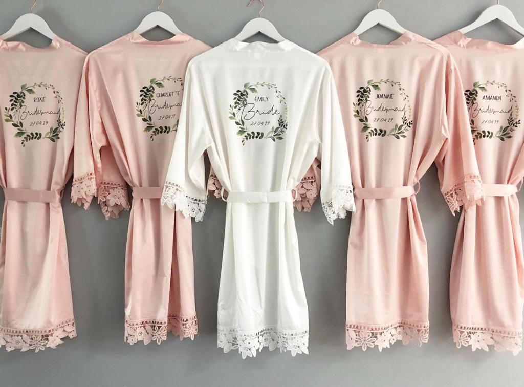 Personalized Bridesmaid Robes by Bespoke Gems