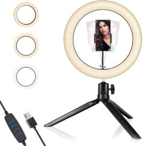 """Buauty 10.2"""" LED Ring Light with Tripod Stand & Phone Holder"""