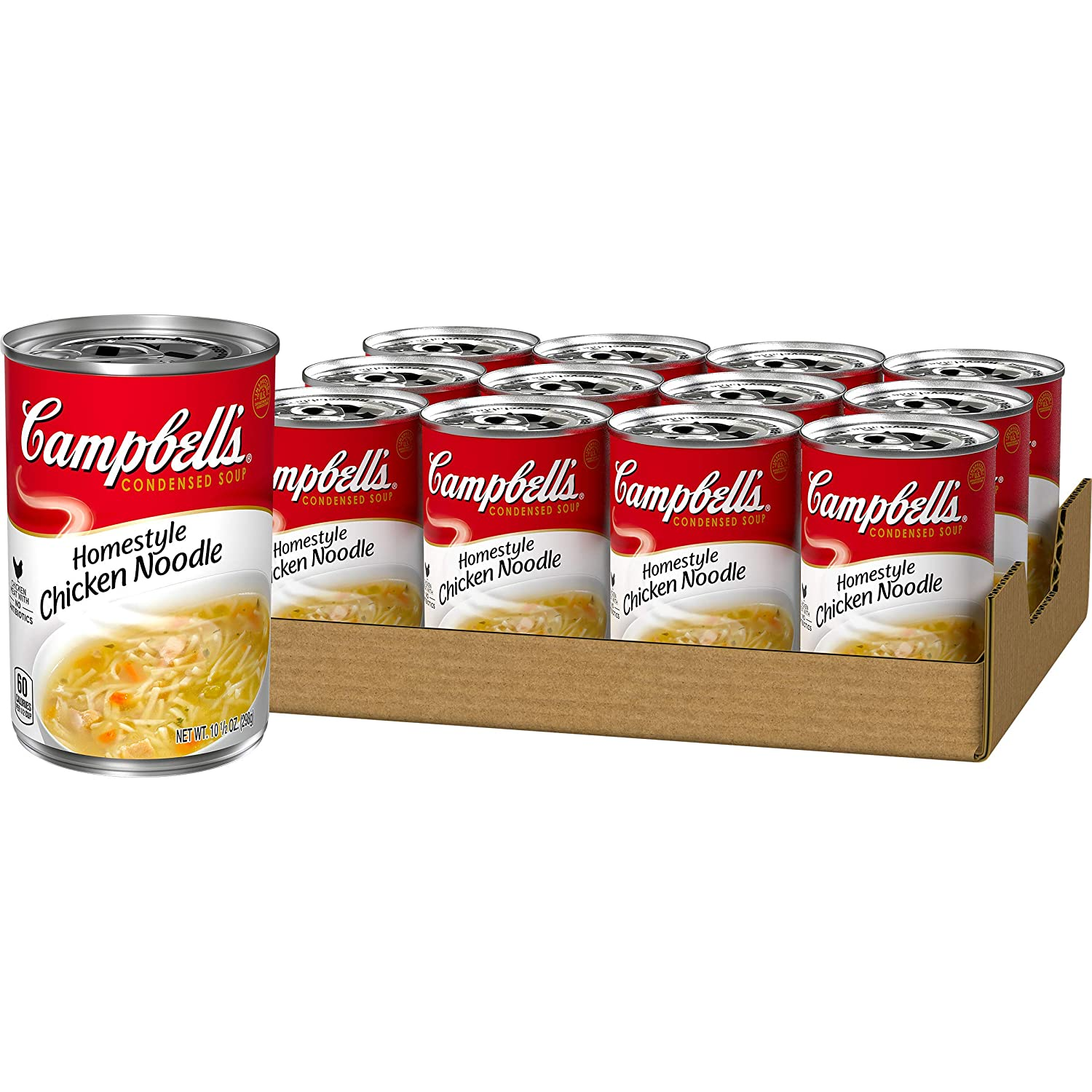 12 pack of Campbell's Condensed Homestyle Chicken Noodle Soup