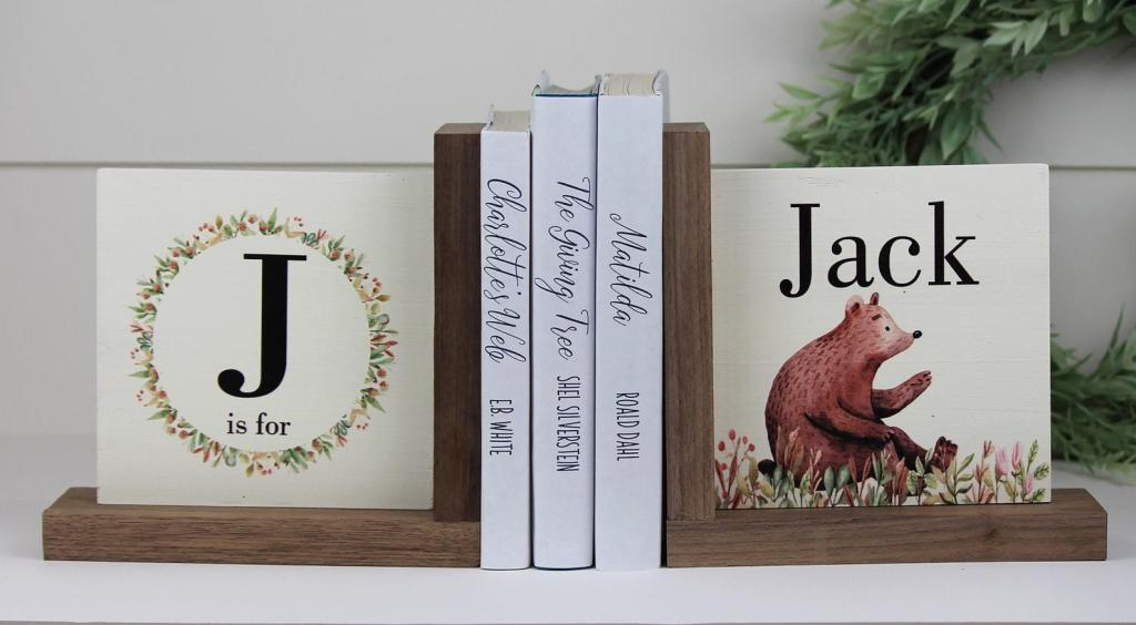 Personalized Children's Bookends by Birchmark Designs