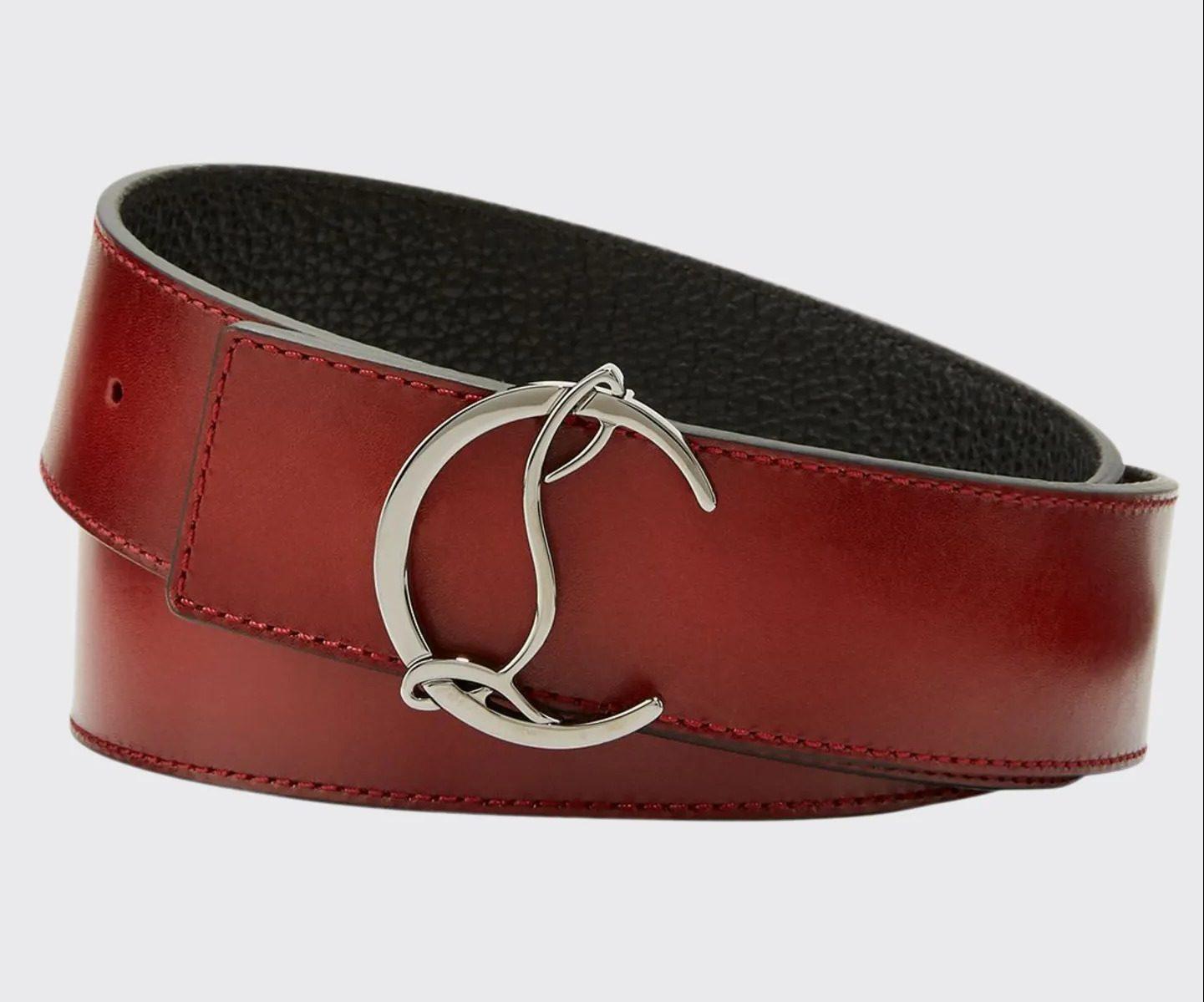 Christian-Louboutin-Mens-Reversible-CL-Logo-Leather-Belt