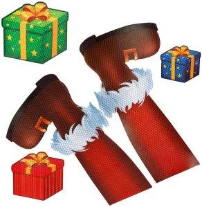 D-FantiX Santa Legs Christmas Car Magnets Set