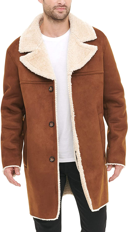DKNY-Mens-Shearling-Walking-Coat-with-Faux-Fur-Collar