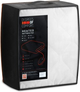 degrees of comfort mattress heated