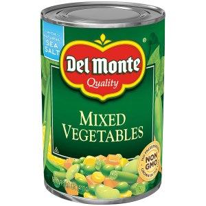 Del Monte vegetables, emergency food supplies