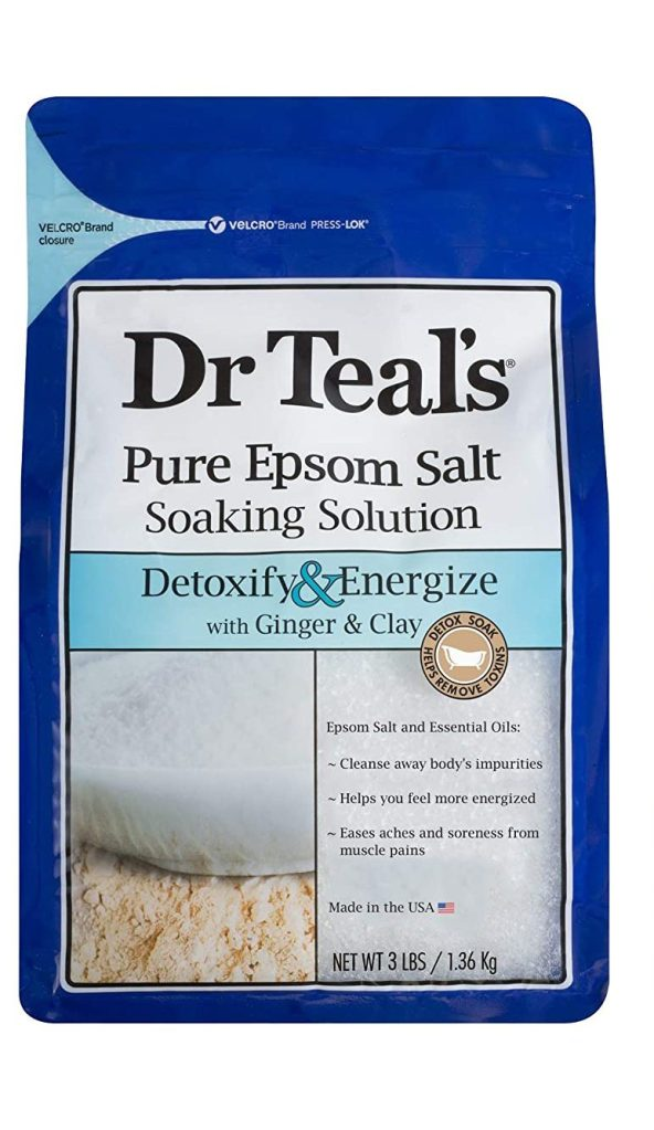 Dr Teal's Epsom Salt Bath Soaking Solution with Ginger and Clay, best bath salts