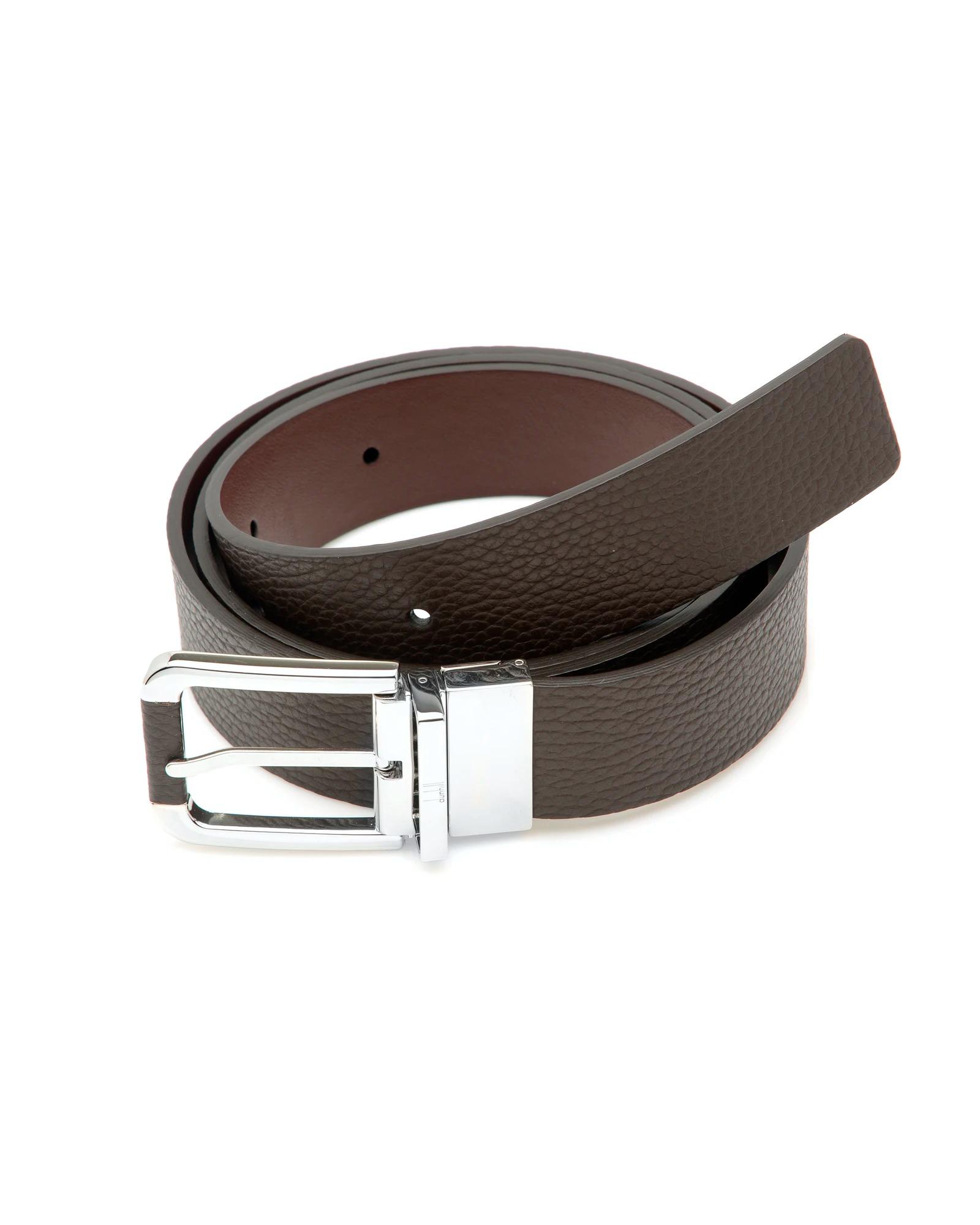 Men's Designer Belts: Dunhill Brown Leather Belt