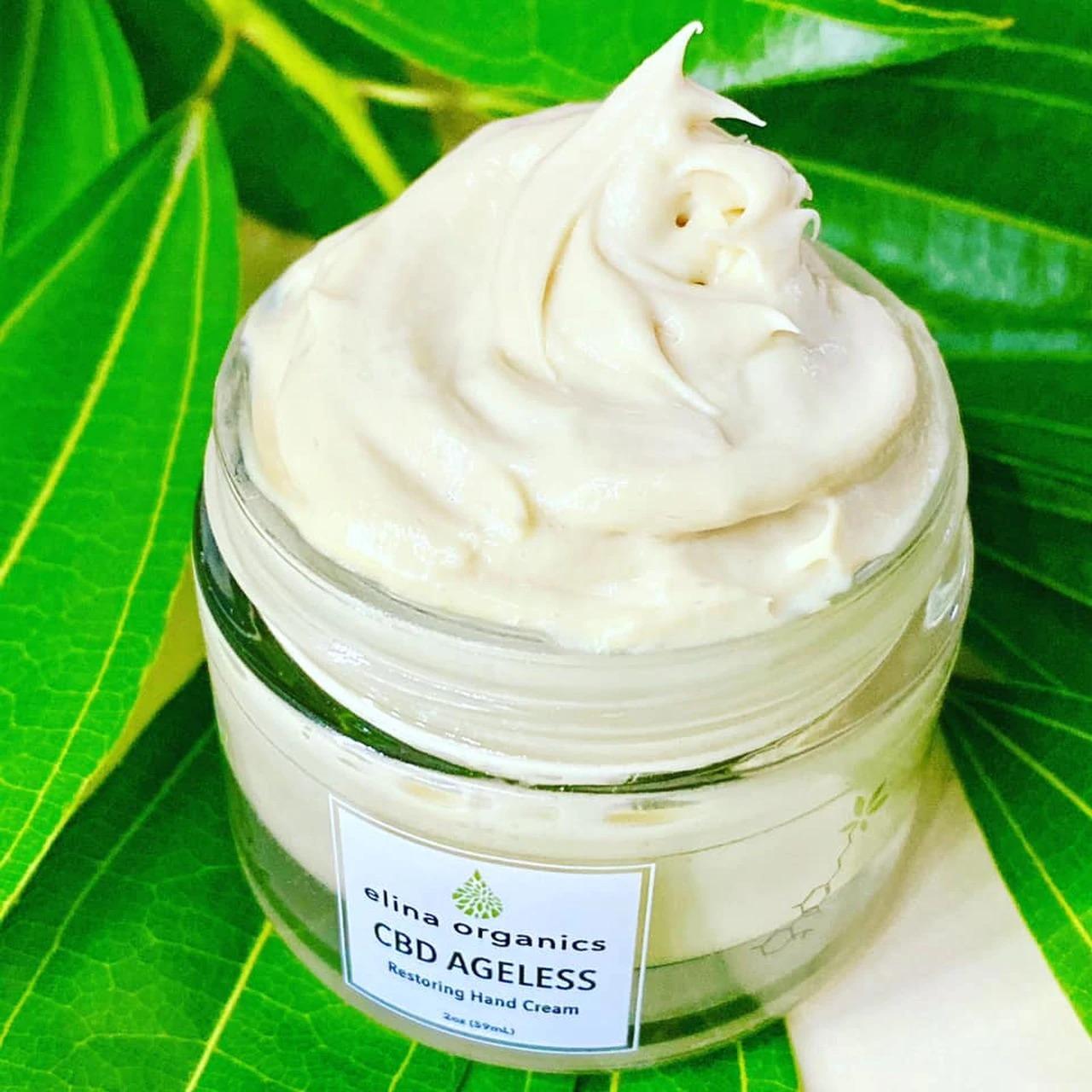 Elina Organics CBD Ageless Restoring Hand Cream