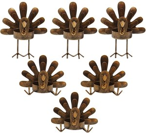 thanksgiving decor dining table holiday centerpieces forup metal turkey