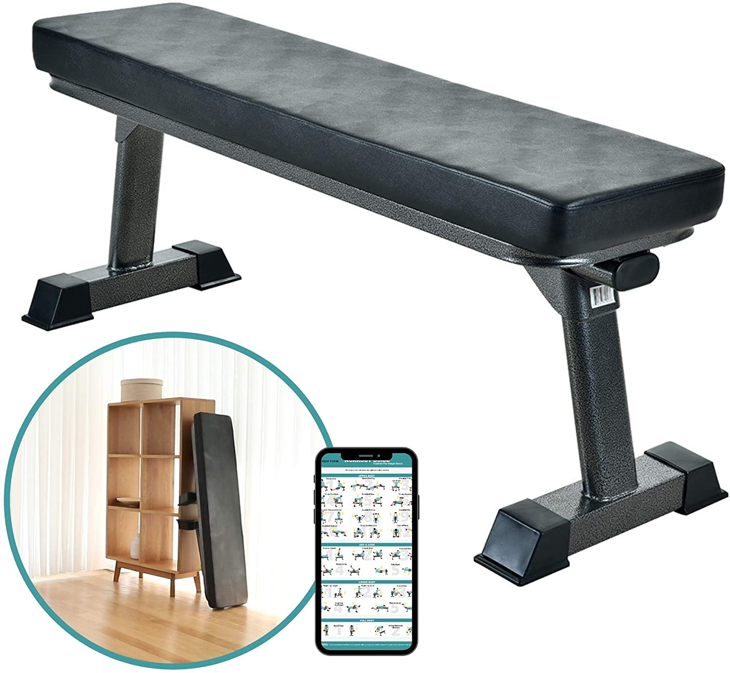 Finer Form foldable flat home weight bench