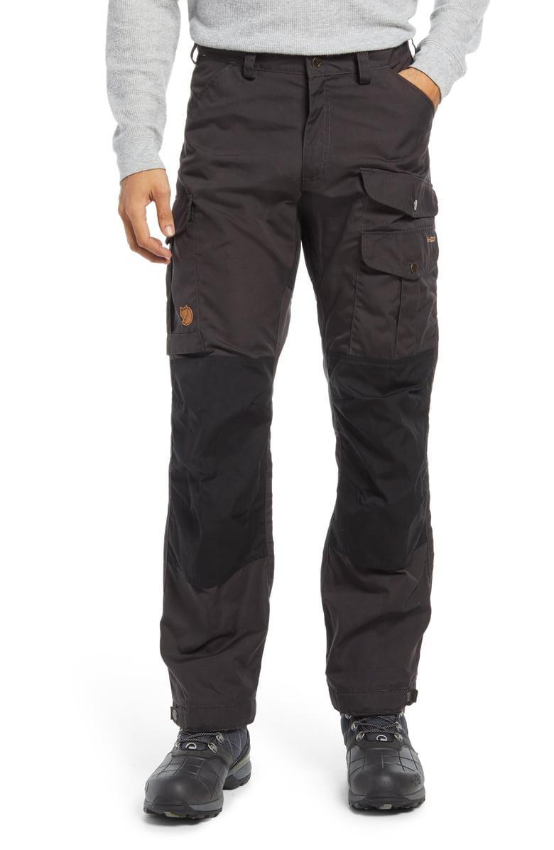 Man wears dark Fjallraven Vidda Pro Cargo Pants