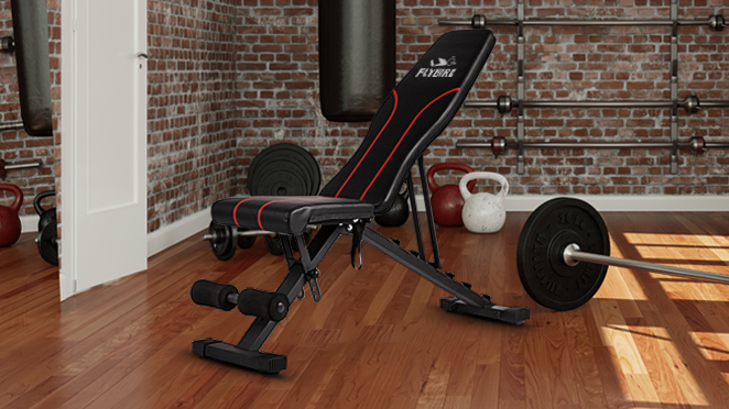 Weight Bench Abs Benchs Foldable Flat Bench Press Adjustable Chair Multi-Purpose Utility for Full Body Workout Suitable for Home Gym