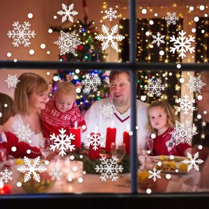 christmas car decorations - Garma White Snowflake Window Decorations