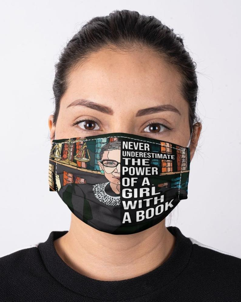 Gifty-Handmade-Gift-Never-Underestimate-the-Power-of-a-Girl-with-a-Book-RBG-Face-Mask