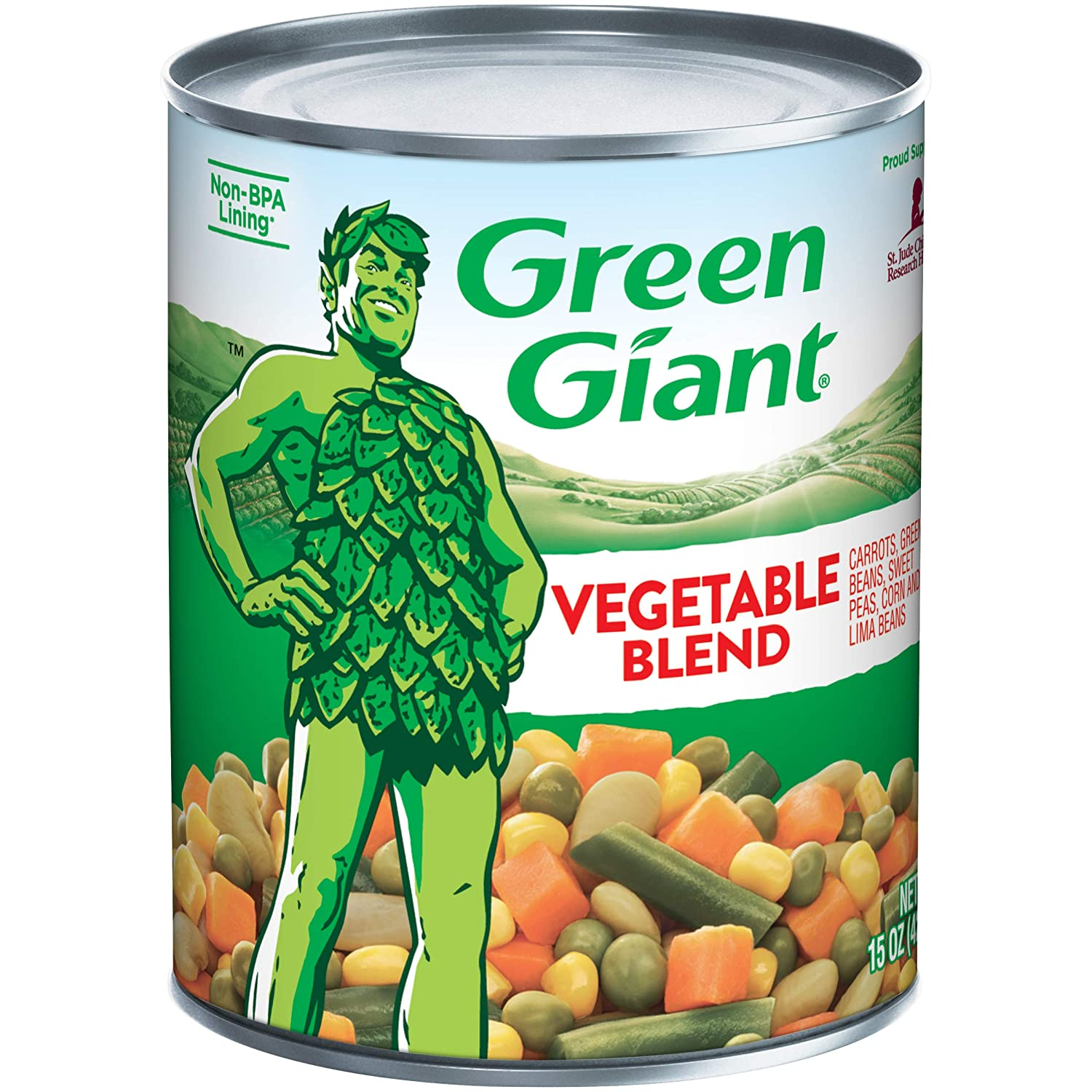 Single 15-ounce can of Green Giant Vegetable Blend