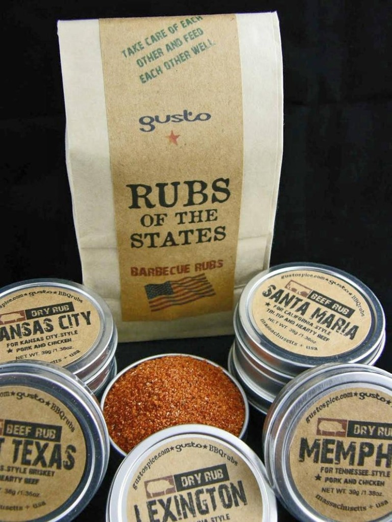 Gusto Spice Gusto's Original Barbecue RUBS of the STATES BBQ Sampler Gift Set