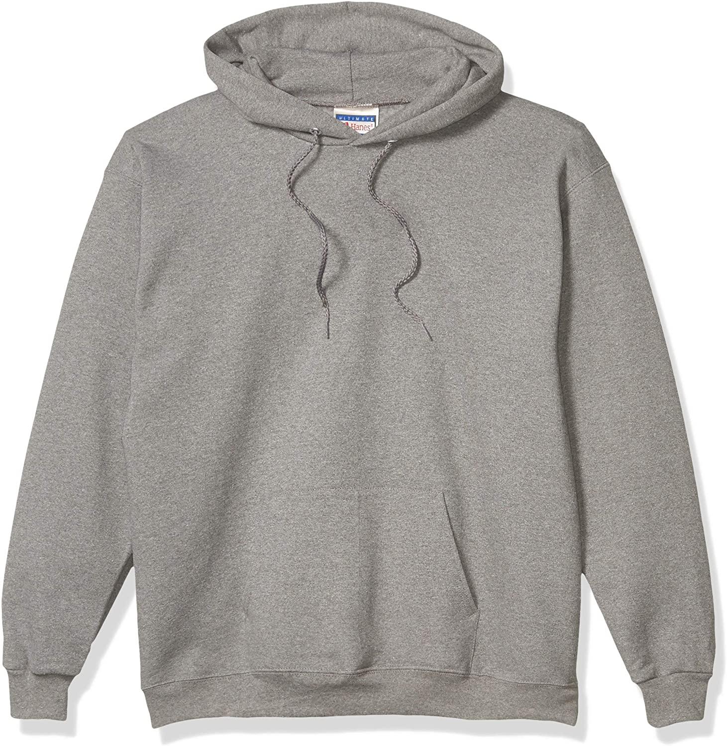 Grey Hanes Men's Cotton Heavyweight Pullover Hoodie Sweatshirt