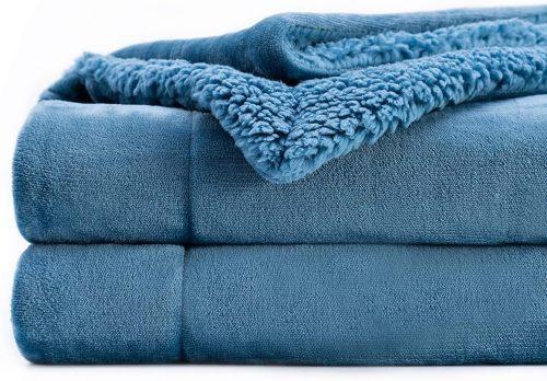 blue down plush blanket