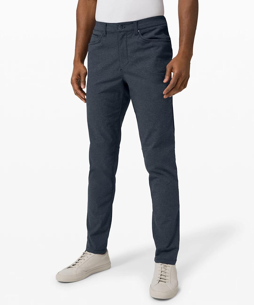 Lululemon black friday deals - ABC Tech Canvas Slim Pant (navy blue tech pant for men)
