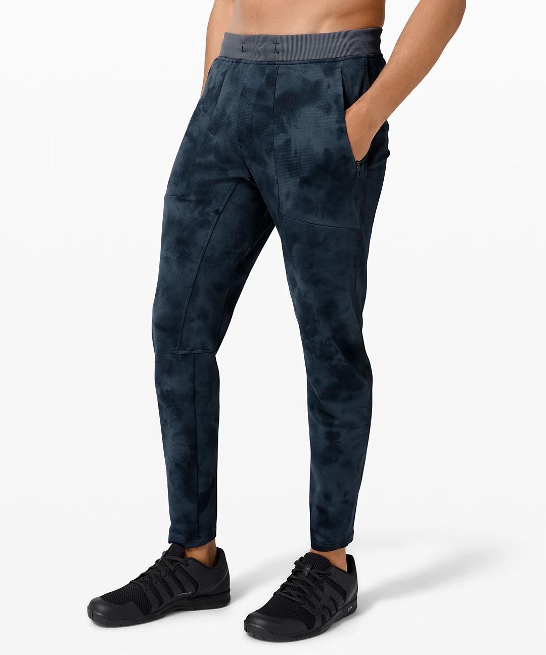 lululemon black friday sale - blue dyed exercise pants
