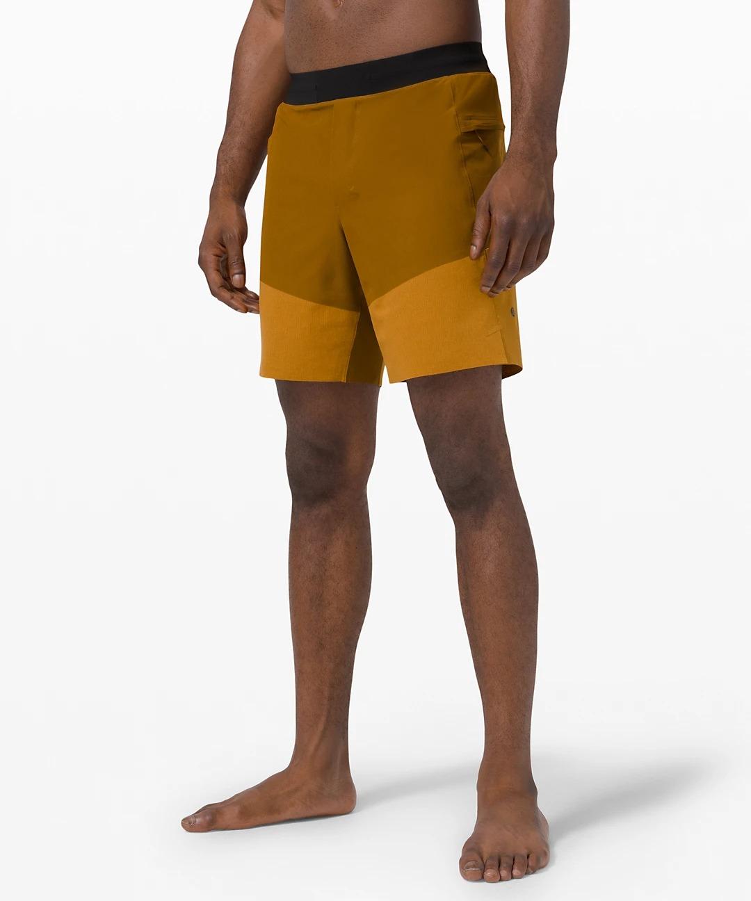 lululemon black friday deals -Train to Beach Short (brown and orange shorts)