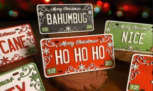 christmas car decorations- LaserSharkSVG Christmas License Plates