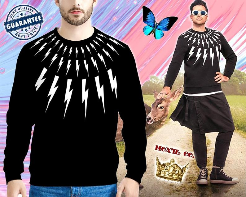 Lightning-Bolt-100-Cotton-Schitt-Warm-Sweatshirt-Sweater